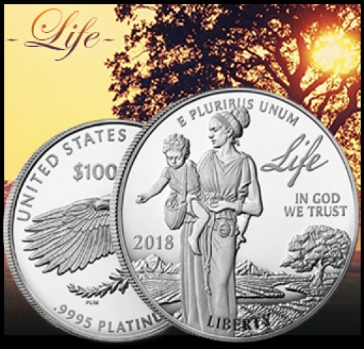 Preamble to the Declaration of Independence: 2018 Proof Platinum American Eagle - Life